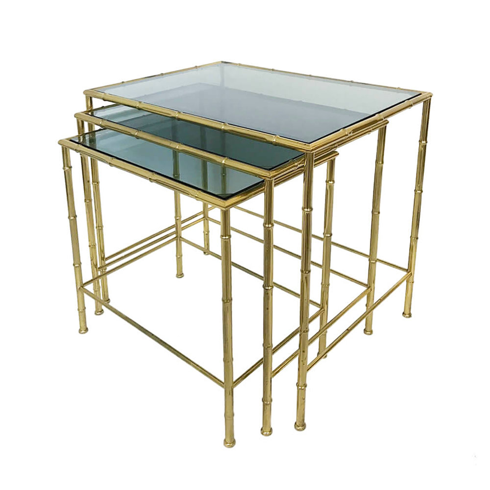 Brass Faux Bamboo Nesting Tables.jpg