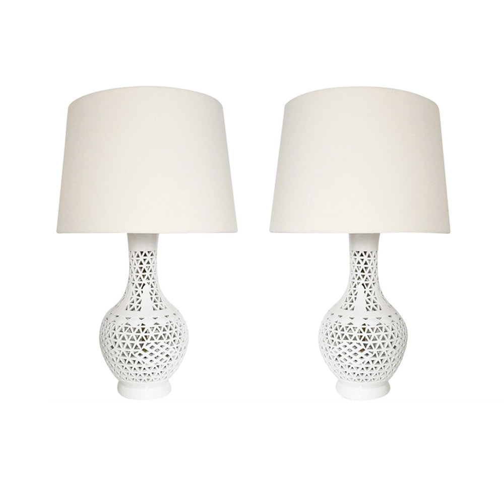 Pair of Blanc De Chine Table Lamps