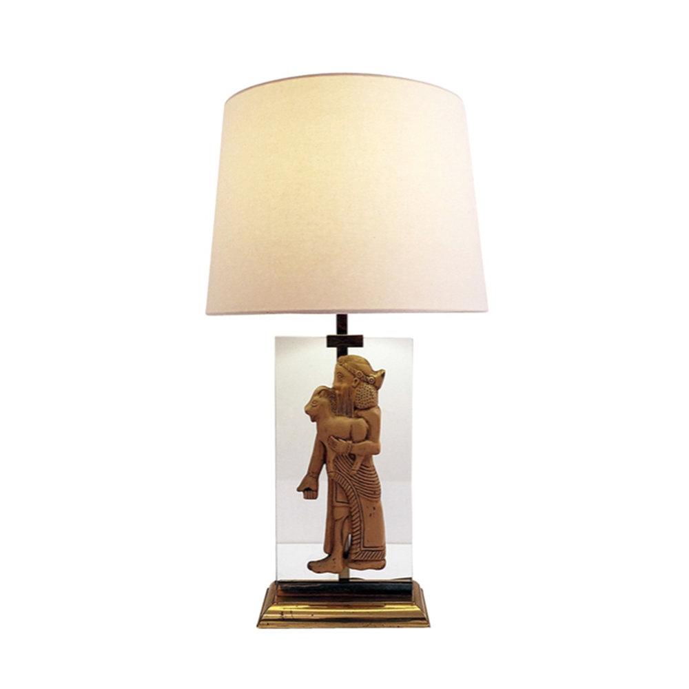 Assyrian Relief Style Table Lamp