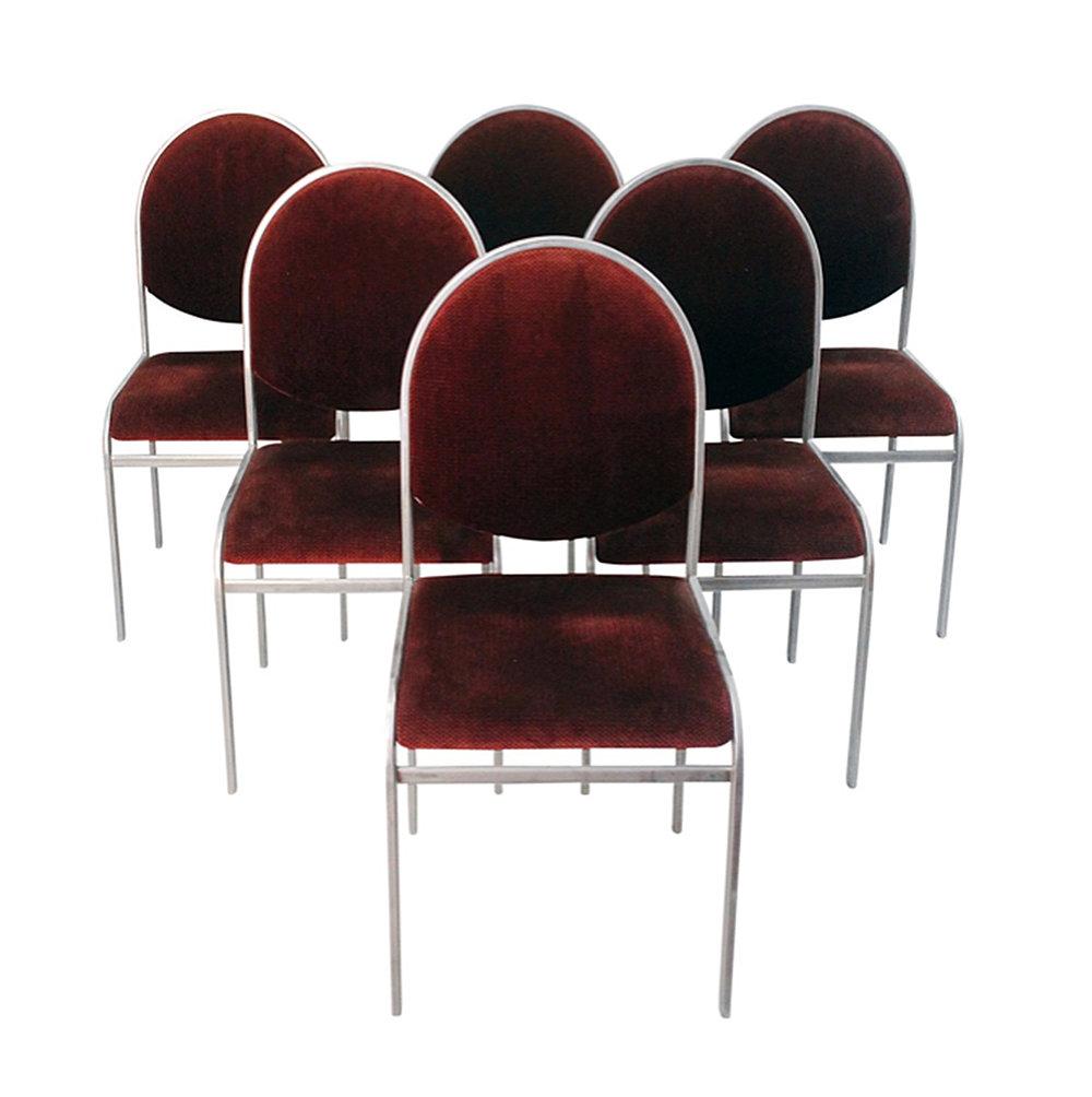 Set of Six Zevi Chrome Dining Chairs