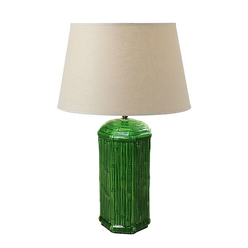 Faux Bamboo Ceramic Table Lamp