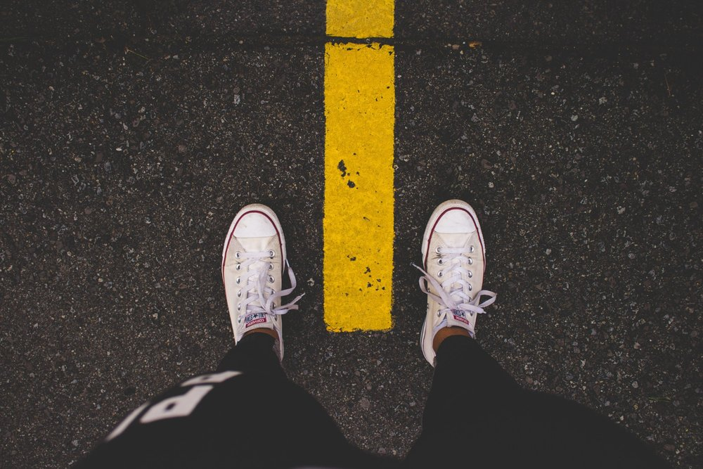 The line. There it is. Photo by Nadine Shaabana on Unsplash