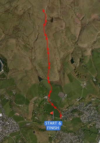 Sheep Fell Over Fell Race Arial View