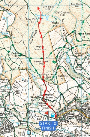 Sheep Fell Over Fell Race 2015 Route