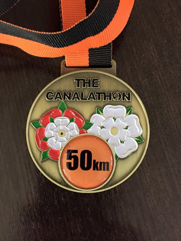Canalathon 2015 medal
