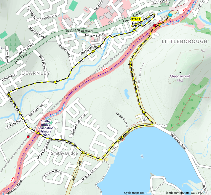 Click Map for detailed route profile