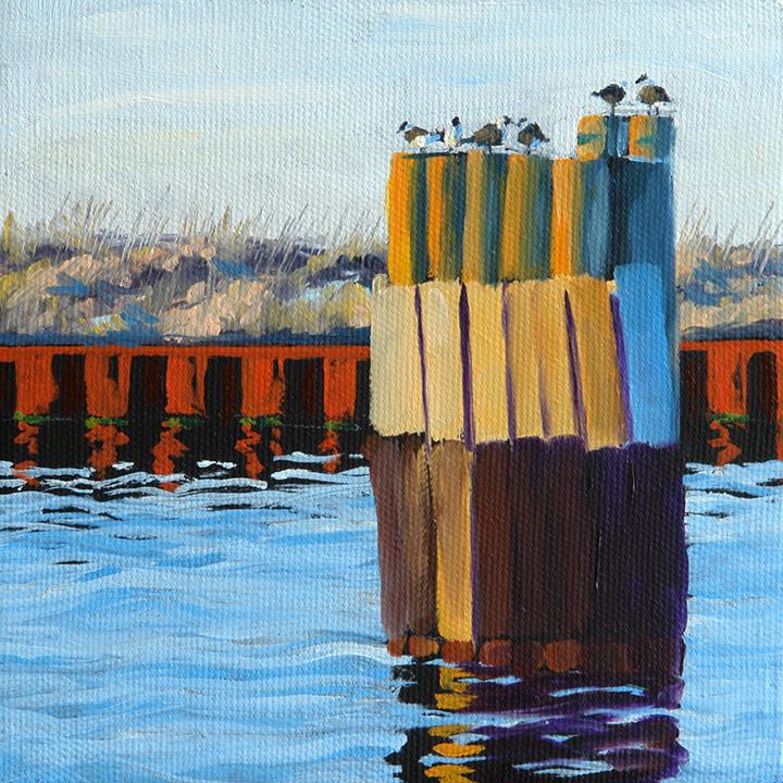 """""""Gull Gathering"""" - Sold"""