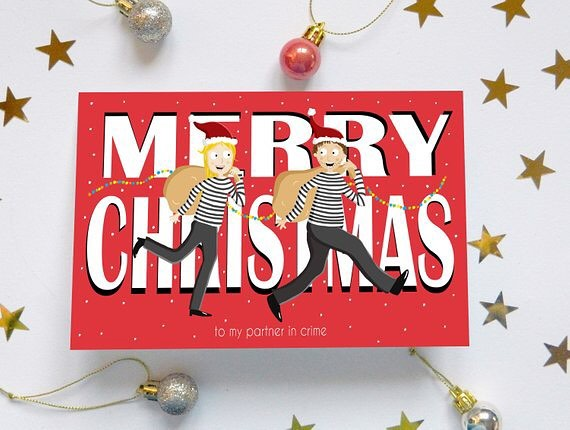 🎄 PRE ORDER 🎄 Partner in crime Christmas cards now available on my @etsyuk 🤶🏻 Buy now - shipped 22.11.18