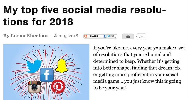 Check out my latest article on @reelchicago about my top five #socialmedia #resolutions2018💫 #digitalmedia #trysomethingnew #bigbroadmedia #lornasheehan #published #writer #article #linkinbio👆