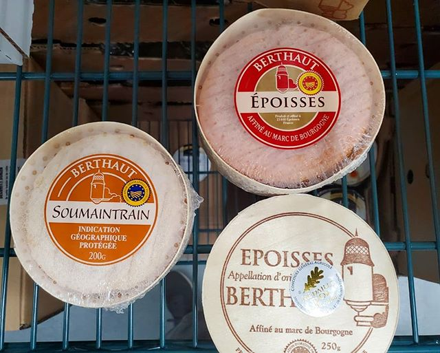 Soumaintrain and Epoisses are now available via our French air program. Typically these cheeses come in after a 5-6 week boat trip. These wheels were at Berthaut 72 hours ago and are ready to go.