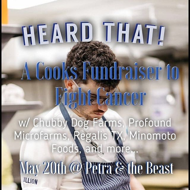 Reposted from @wsalisbury123 -  Hey guys! I'm doing a pop up to raise some funds to help pay for my cancer treatments. Big thanks to @petraandthebeast for hosting; @chubbydogfarm for sponsoring as well as @regalistx @minamotofoods @profoundmicrofarms and extra thanks to @jsutcliff @jrborges81 @misti.j.norris for volunteering their time to help me cook!