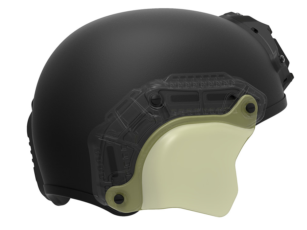 FLUX Ballistic helmet side cover overlay