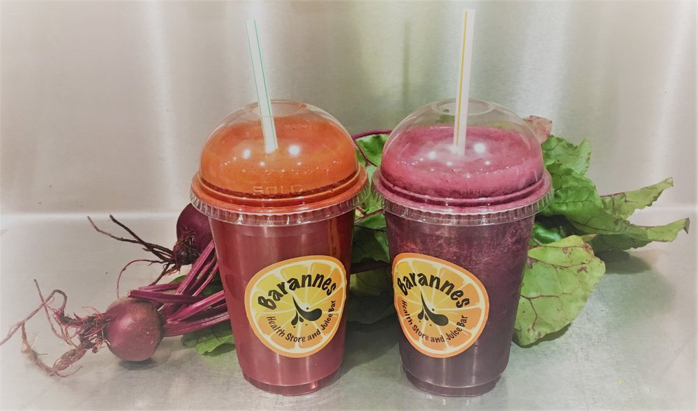 The new Kale-Beet Twist and Trible B Smoothie