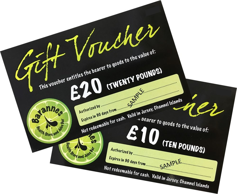 Gift vouchers available in £10 and £20