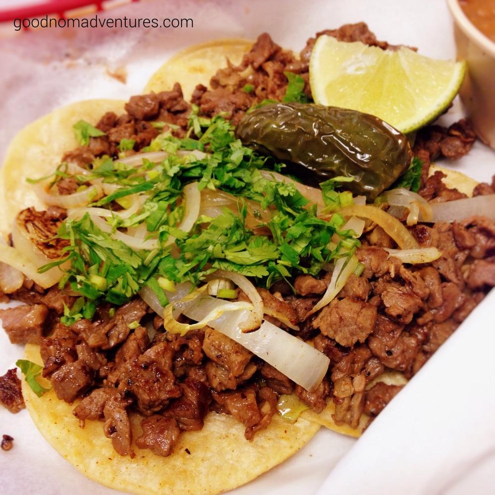 Carne asada mini tacos