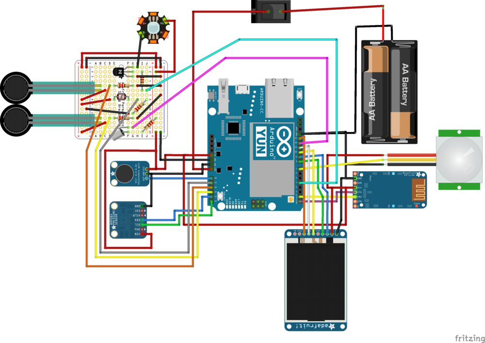 Wiring Diagram created in Fritzing