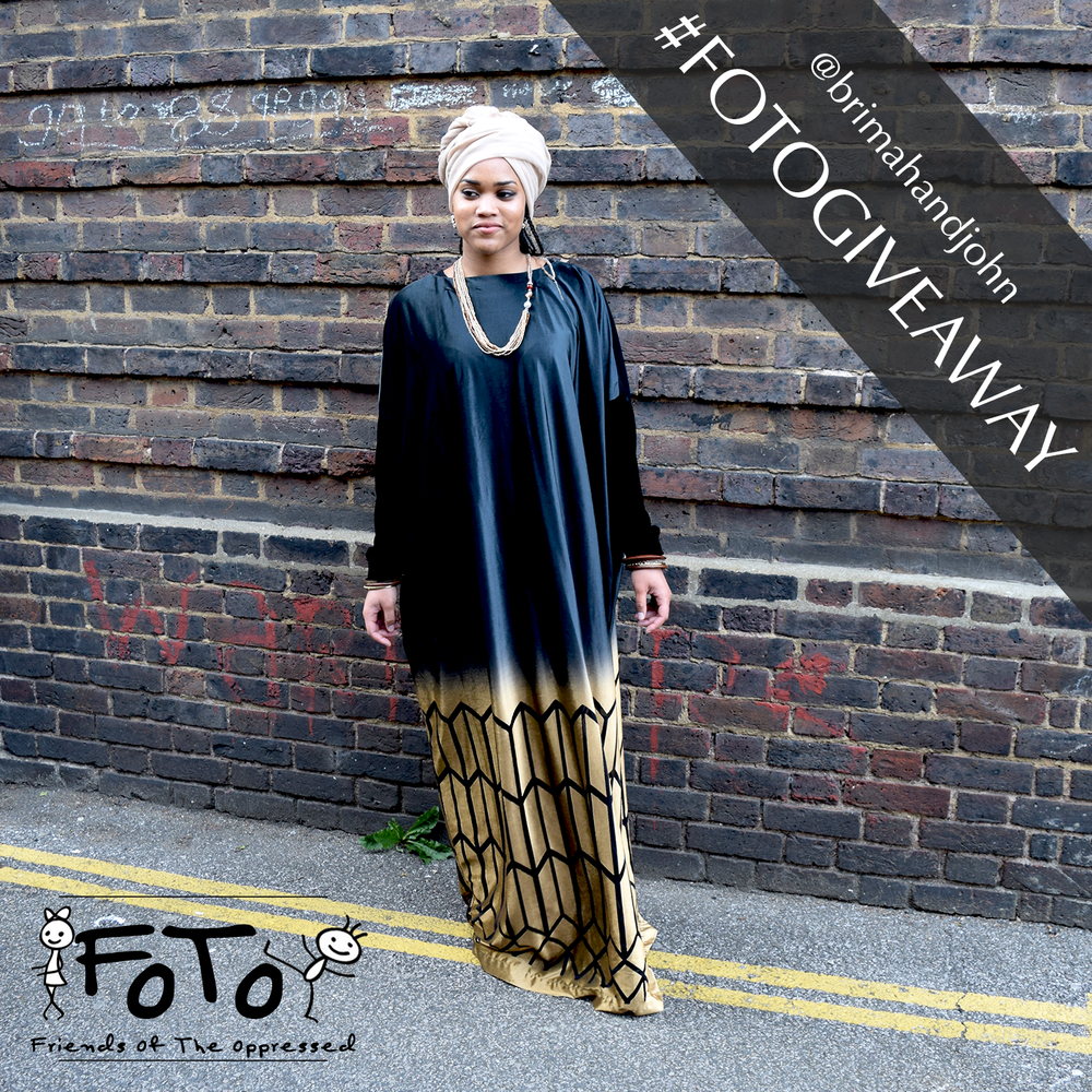 Gold Velvet Abaya To Be Won   Giveaway Rules   1- Make sure you're following @brimahandjohn on Instagram, Twitter or like our Facebook page   2- #Repost image using #FOTOGIVEAWAY and #Give2Recieve hashtag. Tag 2 friends, and don't forget to tag us   3- Donate whatever you can and share the donation link! Let's #GiveToRecieve