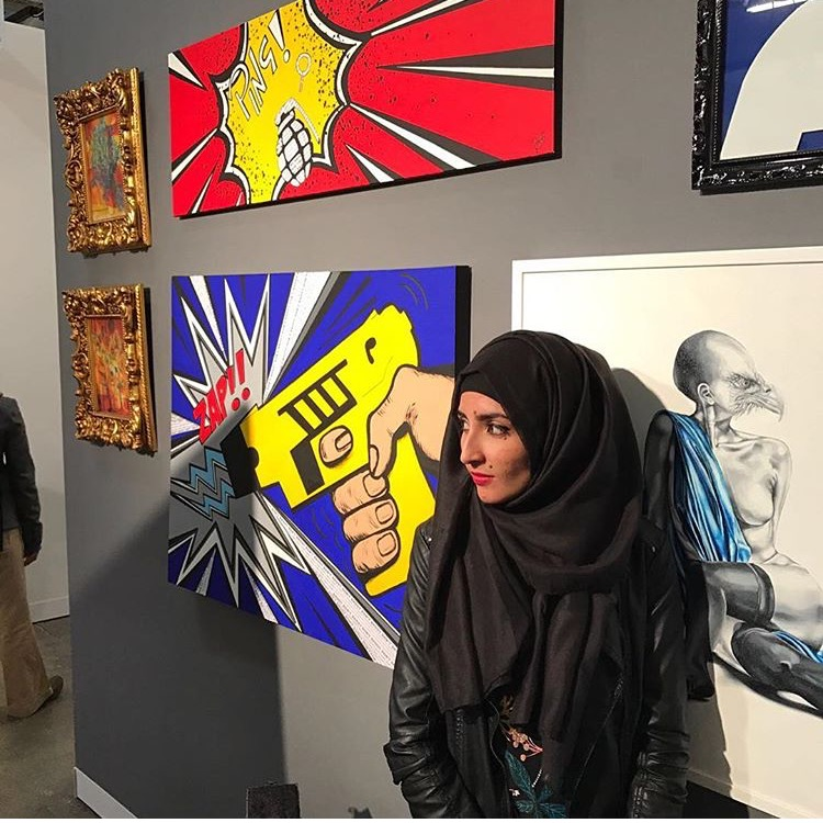 Farah Soobhan  Crazy talented pop artist. A colourful explosion.   instagram.com/farahvisualarts