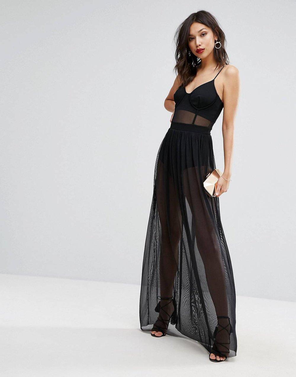 Mesh Maxi Dress -