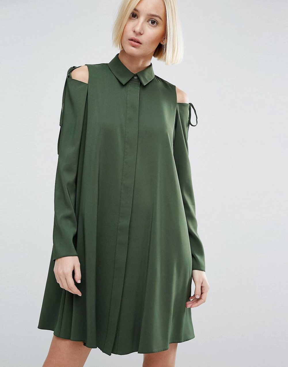 £16 ASOS Cold Shoulder Dress - I seem to be stuck in modest top land. It's hard to escape.