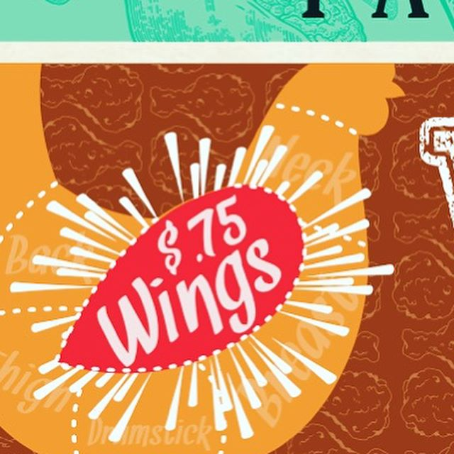 Come in to parlor and Yard for .75 cent wing Wednesday!!! #aintnothingbutachickenwing #parlorandyard #austineats #hotmessatx #wingwednesday #happyhouratx