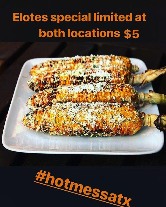 Happy Cinco de Mayo y'all we have Mexican corn and churro specials going on at both locations!! @parlorandyard  @zilkerbeer . . . #happycincodemayo #cincodemayoatx #hotmessatx