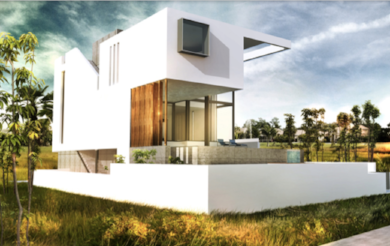 Exterior Rendering of the Anna Maria Island Residence