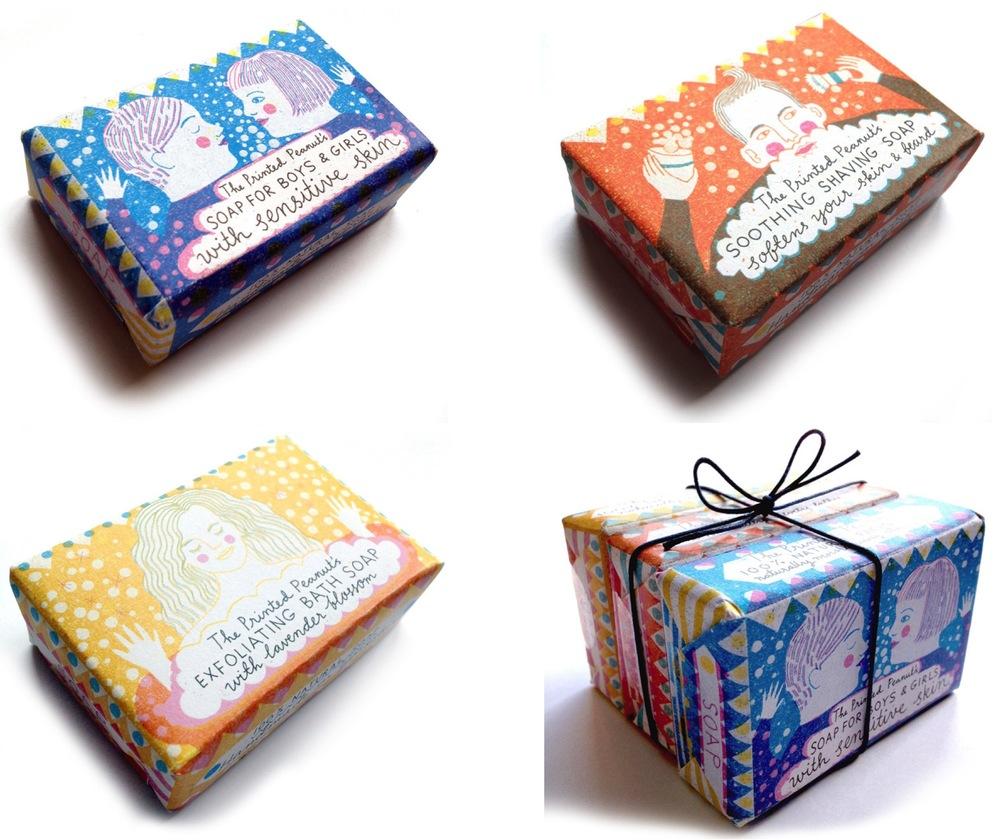 Förpackningsdesign Tvål, Förpackad