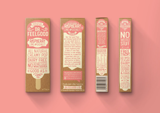 Dr Feelgood Ice Cream Packaging