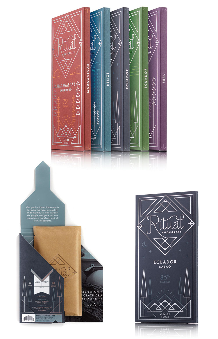Ritual chocolate packaging