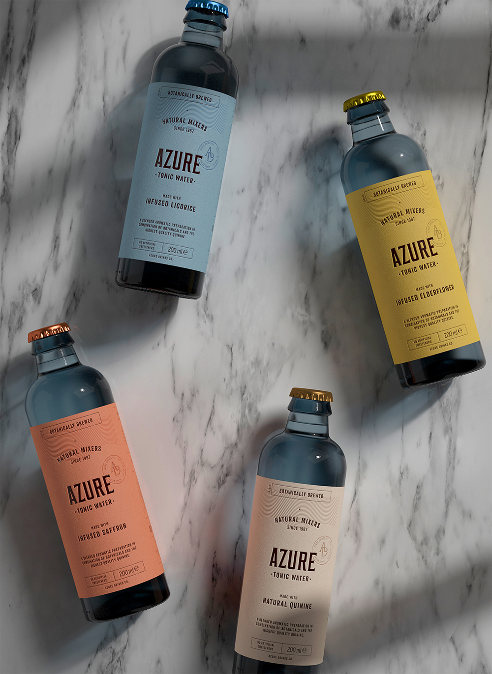 Packaging design Tonic Water by Pep Bernat Vizcaya at FÖRPACKAD