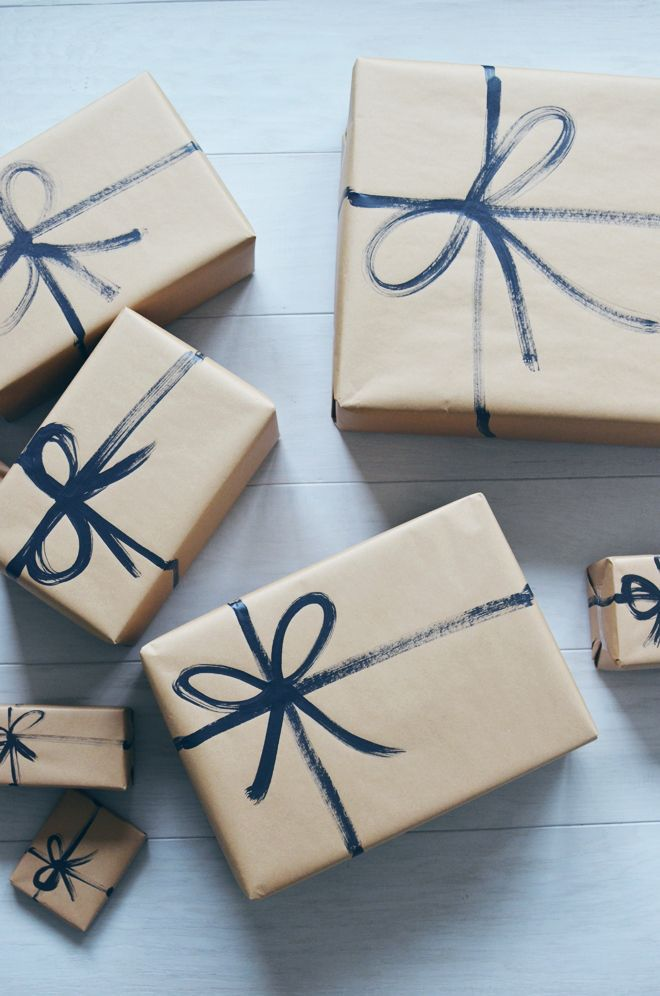 Simple christmas wrapping idea @forpackad