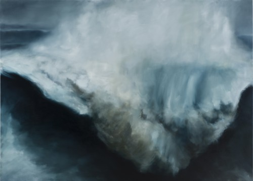 "Karen Marston, Massive Waves, 2014 - 2015, oil on linen, 60"" x 84"""