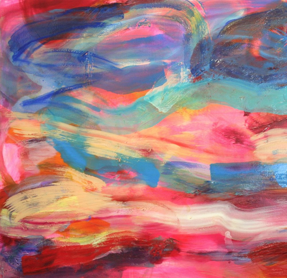 Debra Drexler, Chromatic Utterance (detail), 2015-16, acrylic and oil on canvas, 48 x 60 inches
