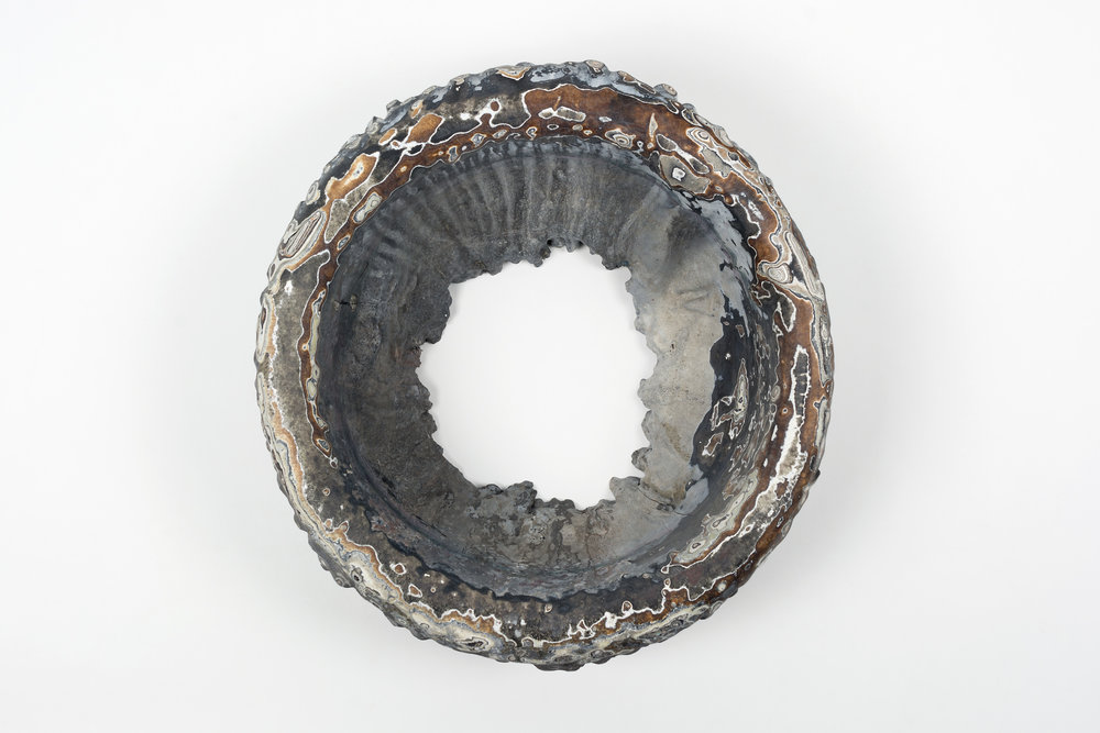 Nick DePirro,  Chapeau,  2015, motor agate, 13 x 13 x 8 inches.