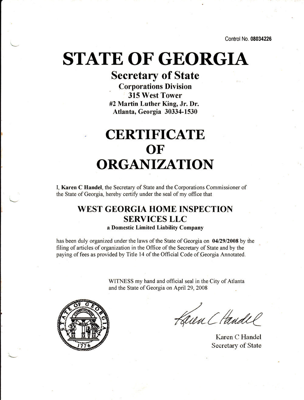 how to become a certified home inspector in georgia