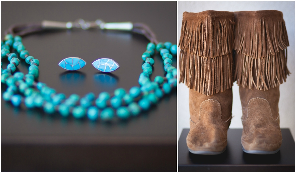 Venessa wore traditional turquoise jewelry and moccasin boots.