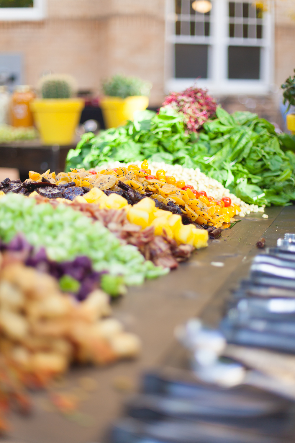 The neatest salad bar we ever did see.