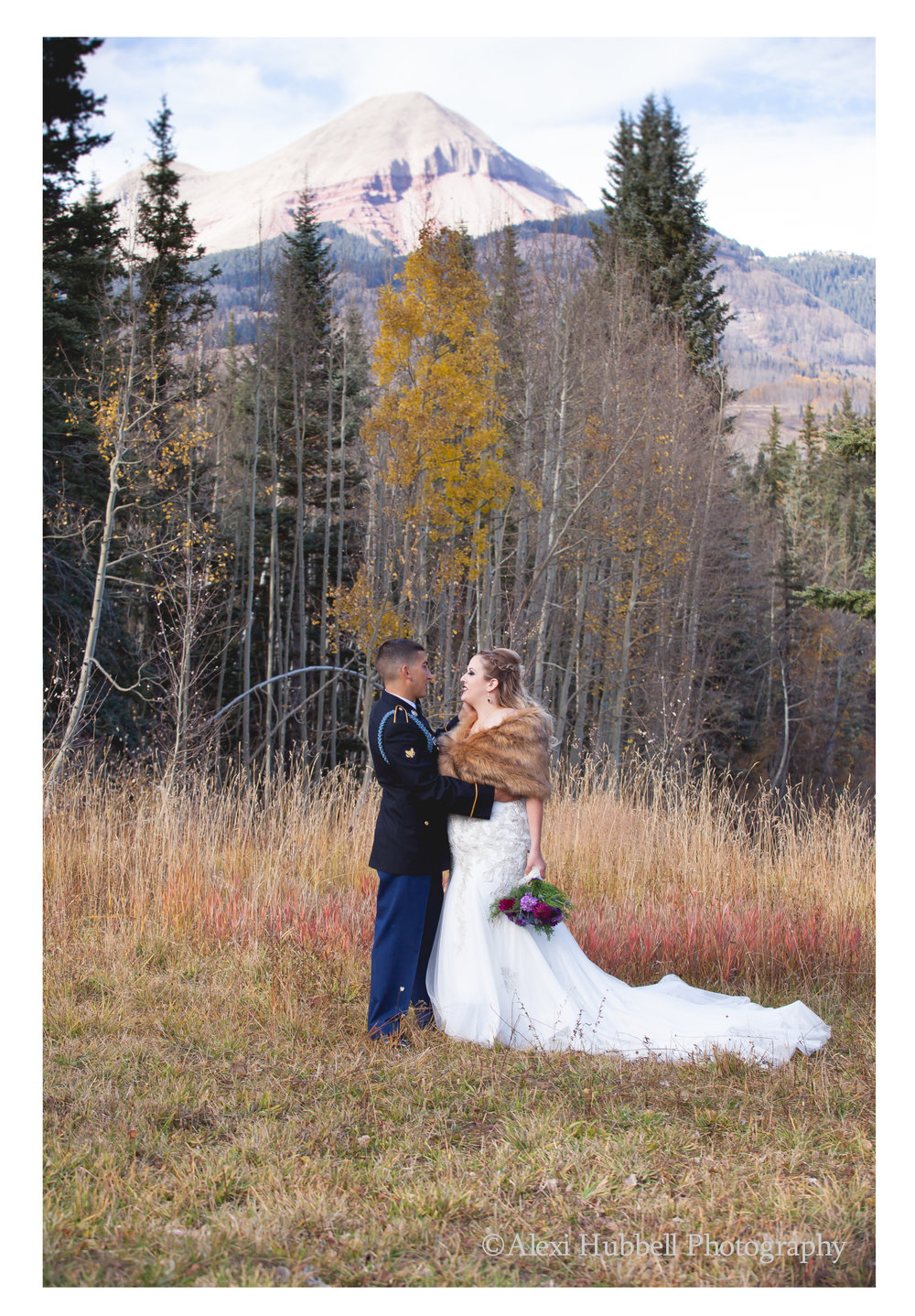durango mountain wedding at purgatory resort alexi hubbell photography