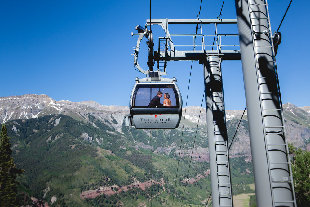 St. Patrick's Catholic Church, Telluride Colorado and Durango Wedding Photographers Alexi Hubbell Photography Gondola Ride Bride and Groom Mountain Village