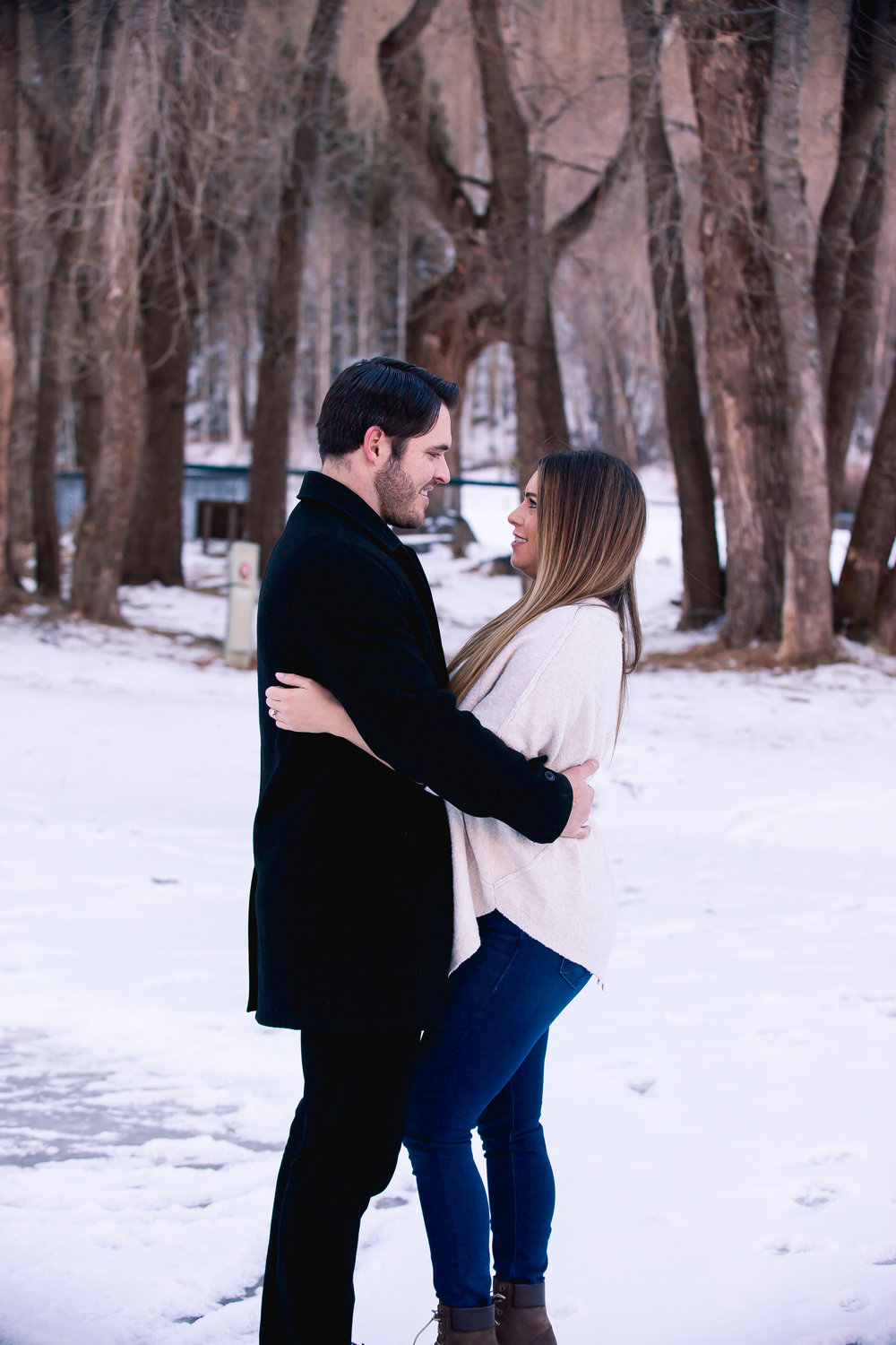 telluride winter engagement photos alexi hubbell photography