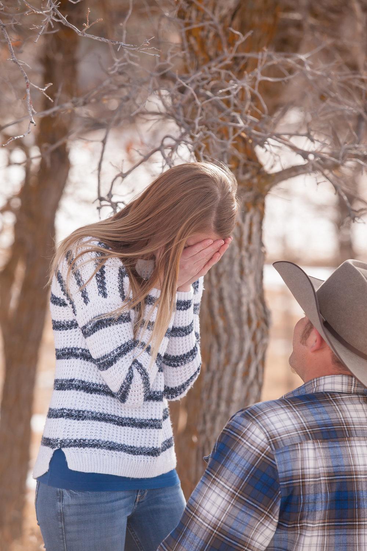 durango colorado proposal cowboy by alexi hubbell photography