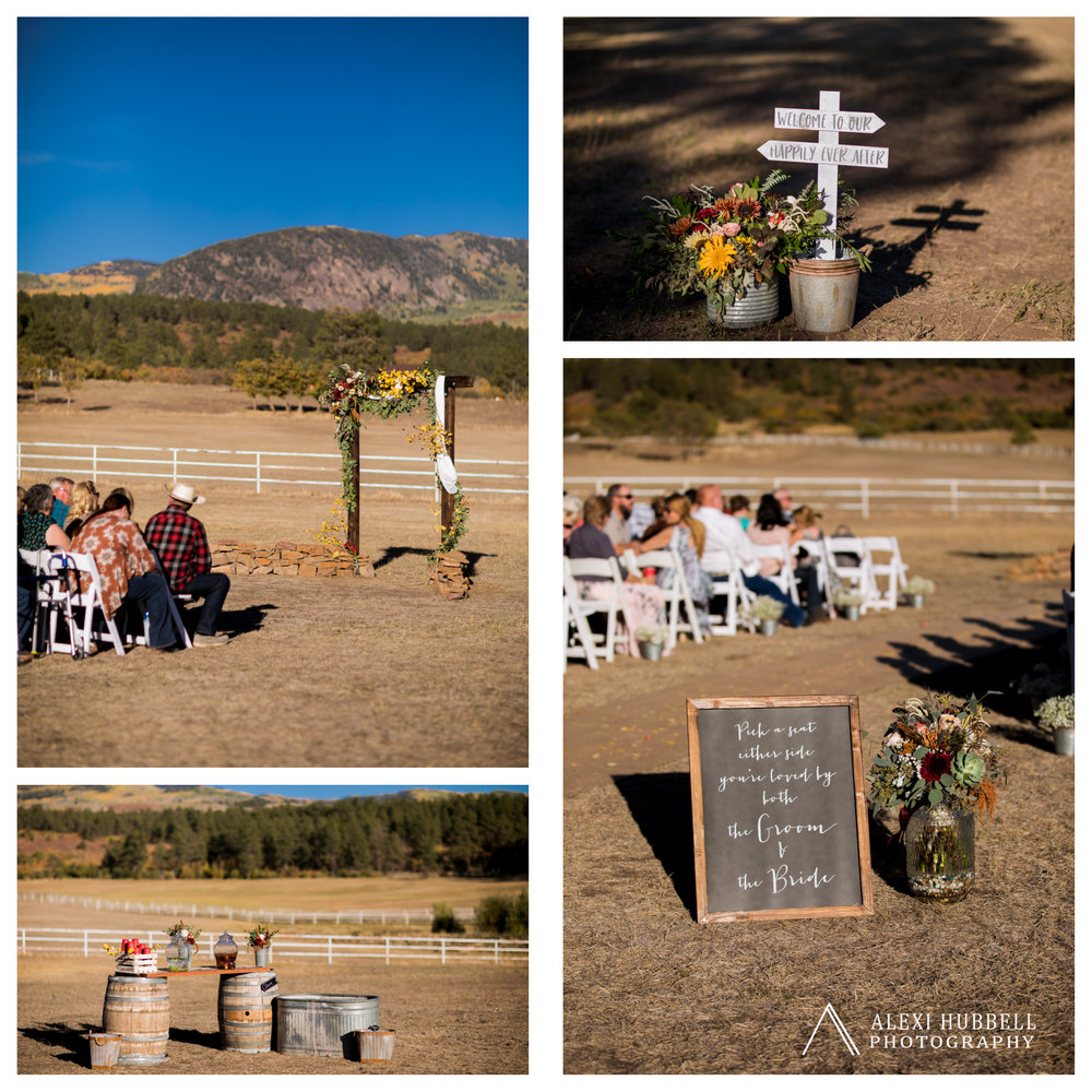 Mancos COLORADO wedding echo basin ranch  Fall wedding Durango