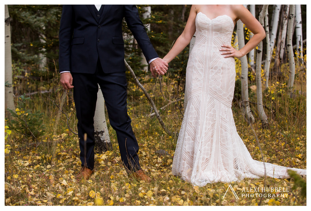 Fall wedding at Cascade Village, Durango, Colorado by Alexi Hubbell Photography