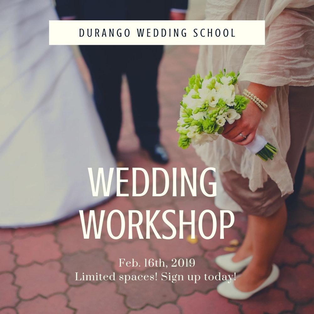 durango wedding school wedding workshop