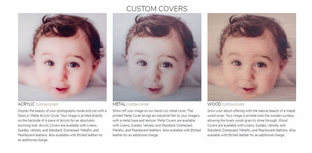 Custom image covers