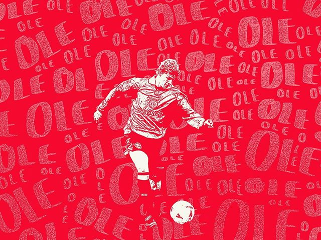 A design I did years ago celebrating one of my favourite players as a kid, Ole Gunnar Solskjær. @manchesterunited #manchesterunited #olegunnarsolskjaer #ole #manutd #typography #type