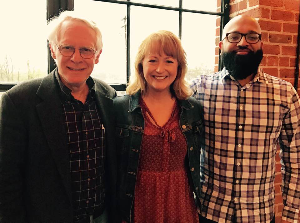 Rabbi Bob Alper, Pastor Susan Sparks, & Comedian Aman Ali before last night's show. (Photo cred: S. Sparks)