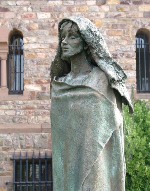 Statue of Hildegard_Abbey Church of St Hildegard Germany.jpg