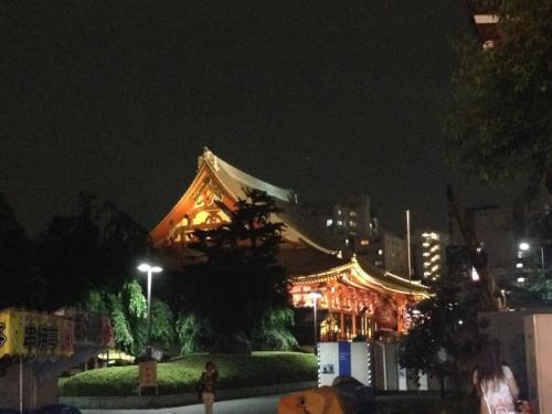 Senso-ji at night.